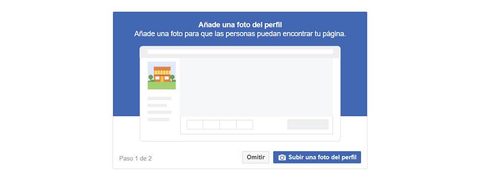 crear una página en Facebook paso 4
